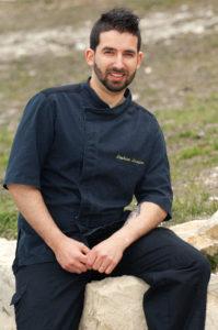 """Stéphane LAUGIER, Chef du restaurant """"la Table du Pré Martin"""" à Annot, Alpes de Haute- Provence"""